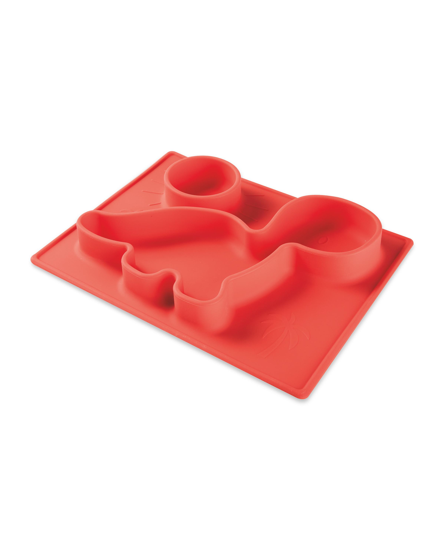 Coral Dino Non-Slip Silicone Mat