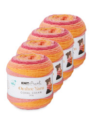 Coral Cream Ombre Yarn 4 Pack