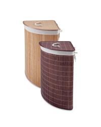Corner Bamboo Laundry Hamper