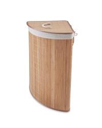 Corner Bamboo Laundry Hamper - Light