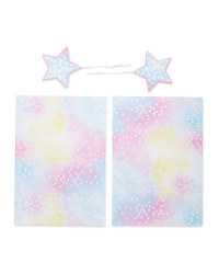 Cosmic Stars Gift Wrap & Tags 2-Pack