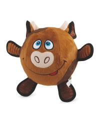 Cow Plush Football Dog Toy