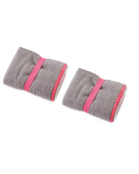 Crane 2 Pack Hand Towel - Grey and Pink
