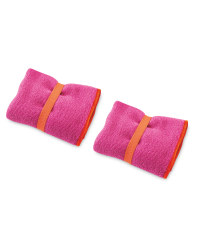 Crane 2 Pack Hand Towel - Pink