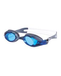 Crane Adult Swim Goggles - Dark Grey/Blue
