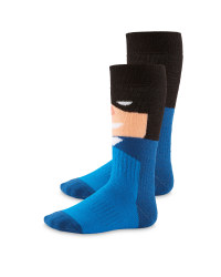 Crane Batman Dark Blue Socks 2 Pack