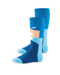 Crane Batman Light Blue Socks 2 Pack