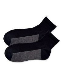 Crane Black Ankle Golf Socks 2-Pack