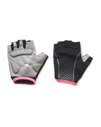 Crane Black/Pink Cycling Gloves