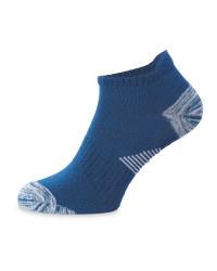 Crane Blue Yoga Socks
