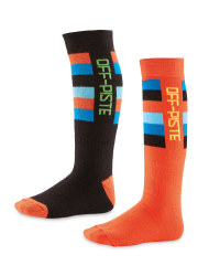 Crane Off-Piste Boys Socks 2 Pack