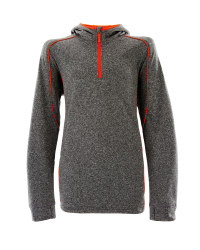 Crane Boys Junior Hooded Midlayer - Grey/Red