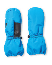 Crane Childrens Ski Mitts - Blue