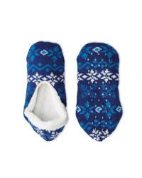 Crane Cosy Slipper Socks 4-8 - Blue