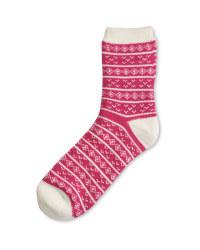 Crane Cosy Socks 4-8 - Pink
