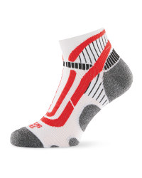 Crane Ergonomic Cycling Socks - White/Red