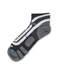 Crane Ergonomic Cycling Socks Pair - Black/White