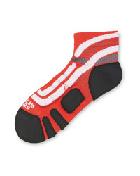 Crane Ergonomic Cycling Socks Pair - Red/White