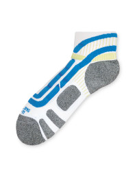 Crane Ergonomic Cycling Socks Pair - White/Blue
