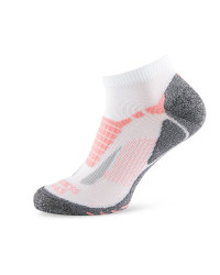 Crane Fitness Socks - White/Pink
