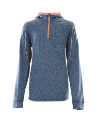 Crane Girls Junior Hooded Midlayer - Blue/Coral