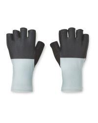 Crane Grey & Black Cycling Gloves