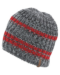 Crane Grey Striped Knitted Hat