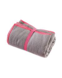 Crane Gym Towel - Grey and Pink