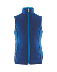 Crane Junior Reversible Gilet Blue