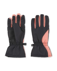 Crane Junior Snow Gloves - Coral