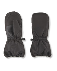 Crane Junior Snow Mittens - Black