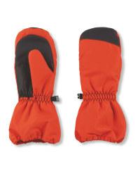 Crane Junior Snow Mittens - Orange