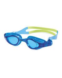 Crane Junior Swim Goggles - Blue/Green