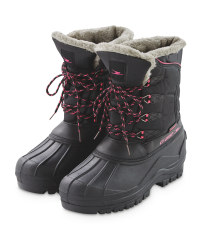 Crane Ladies' Boots - Black/Pink