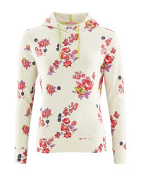 Crane Ladies' Cream Floral Hoody