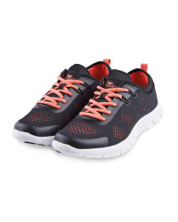 Crane Ladies' Fitness Trainers - Black/Coral
