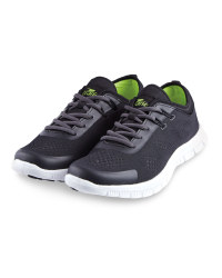 Crane Ladies' Fitness Trainers - Black/Lime