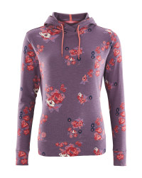 Crane Ladies' Purple Floral Hoody
