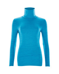 Crane Ladies Ski Roll Neck Top - Blue