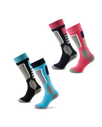 Crane Ladies Ski Socks 2 Pack