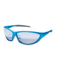 Crane Matt Metallic Cycling Glasses - Blue