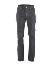 Crane Men's Motorcycle Jeans - Black
