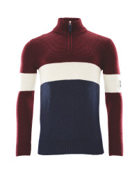 Crane Mens Nordic/Alpine Knitwear - Navy/Red