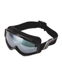 Crane Mens Ski & Snowboard Goggles - Black/Silver