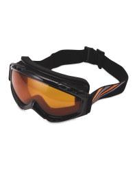 Crane Mens Ski & Snowboard Goggles - Orange/Black