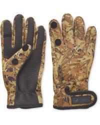 Crane One Fold Camo Fishing Gloves