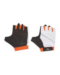 Crane White/Orange Cycling Gloves