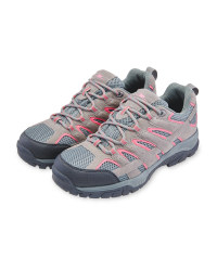 Grey/Pink Walking Shoes