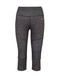 Crane Printed Capri Fitness Leggings