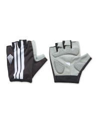 Crane Pull-On Style Cycling Gloves - Black/White